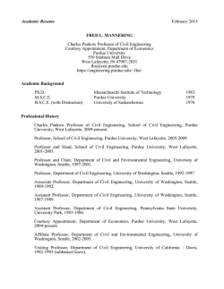 Resume - College of Engineering, Purdue University