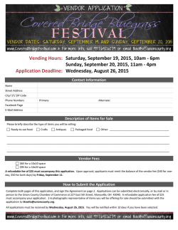 Volunteer application - Covered Bridge Bluegrass Festival