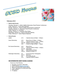 February 2015 - Gallipolis City Schools