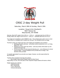 2015-March-WeightPull - the Crooked River Swissy Club