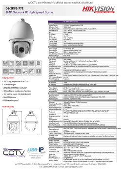 HIkvision DS-2DF1-772 1MP Network IR High Speed Dome - Use-IP