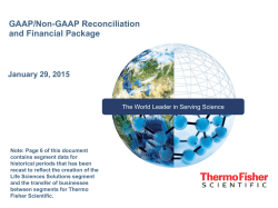 GAAP/Non-GAAP Reconciliation and Financial Package