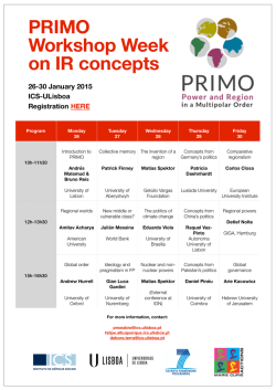 PRIMO Workshop Week on IR concepts