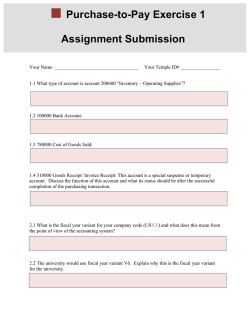 Exercise 1: Submission Template