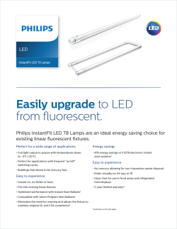 Easily upgrade to LED from fluorescent.