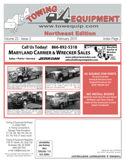 Jan 2015 - Towing And Equipment Magazines