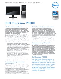 Dell Precision T3500 Spec Sheet
