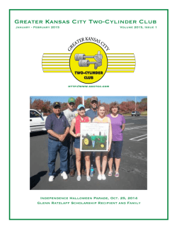 February 2015 Newsletter (pdf download)