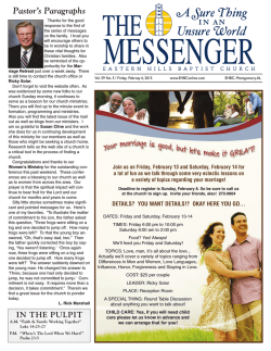 The Messenger - Eastern Hills Baptist Church