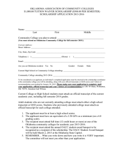 application - Eastern Oklahoma State College