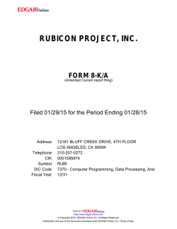 rubicon project, inc. form 8-k/a