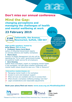 Mind the Gap Conference - East of England, February 2015