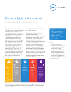 Endpoint Systems Management