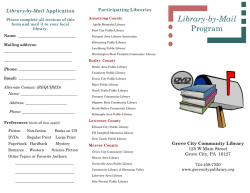 Library-by-Mail Program - Grove City Community Library