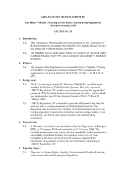 EXPLANATORY MEMORANDUM TEMPLATE