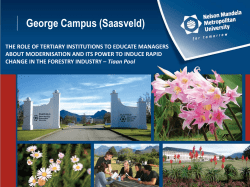 George Campus (Saasveld) - South African Forestry Contractors