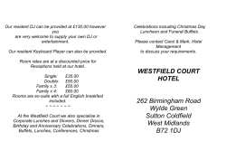 Wedding Brochure - Westfield Court Hotel