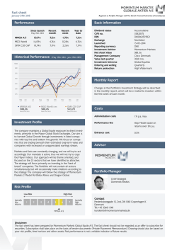 Fact sheet Performance Investment Profile Risk Profile Basic