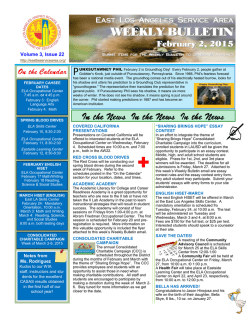 WEEKLY BULLETIN - East Los Angeles Occupational Center