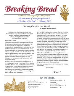 Breaking Bread - Episcopal Church of St. Peter and St. Paul