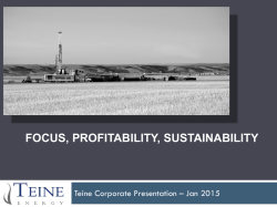 TEL Corporate Presentation- Jan 2015
