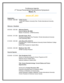 Conference Agenda 2nd Annual Personalized Nanomedicine