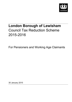 Council tax reduction scheme 2015–16