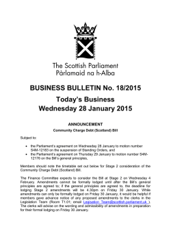 Business Bulletin: Section A (271KB pdf)