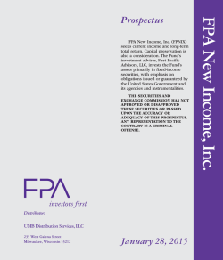 FPA New Income, Inc. Prospectus