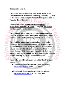 Honourable Sensei, The Third Annual Thunder Bay Wado Kai