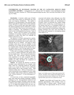 Contribution of Secondary Craters on the Icy - USRA