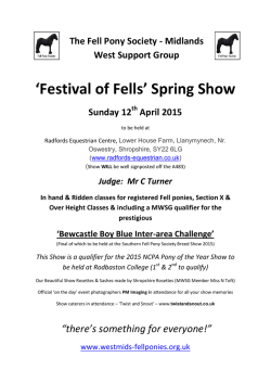 Dowload a schedule here - Midlands West Fell Pony Support Group