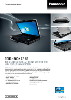 Panasonic Toughbook CF-52 - Centerprise International