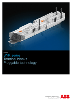 SNK series Terminal blocks Pluggable technology