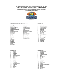 2014-15 BOYS BASKETBALL RANKINGS