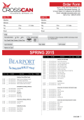 SPRING 2015 Order Form - CrossCan Educational Services