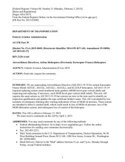 Federal Register Volume 80, Number 21 (Monday, February 2, 2015)
