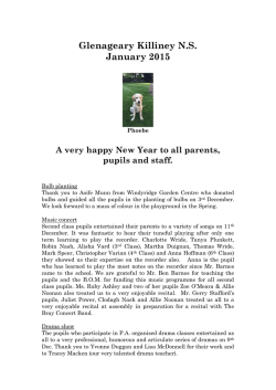 Final Newsletter 2012/13 - Glenageary Killiney National School
