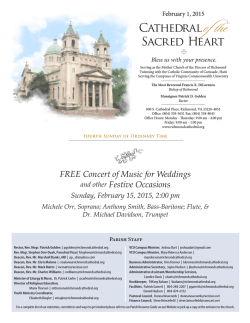 Weekly Bulletin - Cathedral of the Sacred Heart