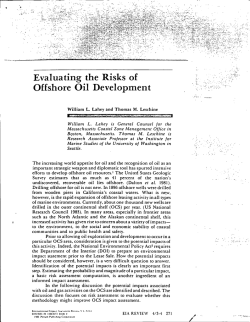 Evaluating the Risks of Offshore Oil Development