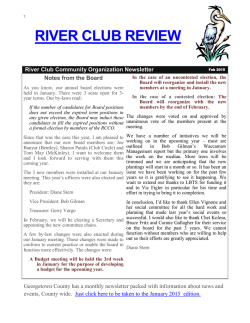 newslet - About River Club