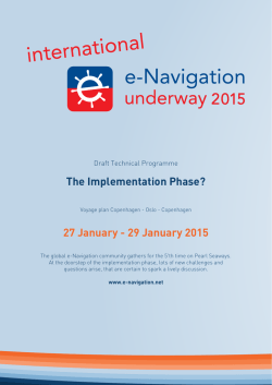 enav uway 2015 Draft Tech Prog