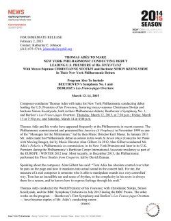 FOR IMMEDIATE RELEASE February 2, 2015 Contact: Katherine E