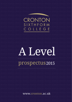 to download the A Level prospectus