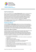 IOS 2015 - Call for Abstracts - Canadian Centre on Substance Abuse