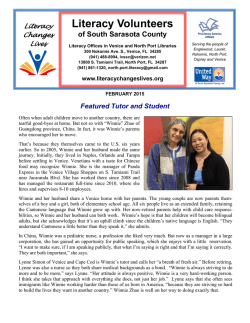 February 2015 - Literacy Volunteers of South Sarasota County