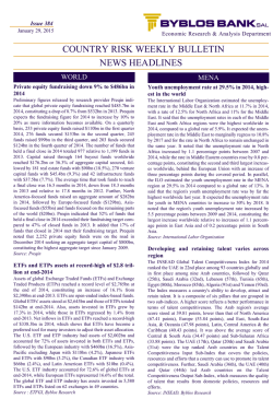 COUNTRY RISK WEEKLY BULLETIN - Issue 384