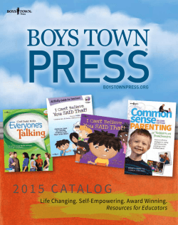 2015 CATALOG - Boys Town Press