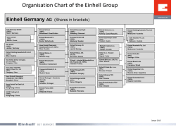 Organisation Chart of the Einhell Group