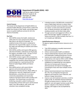 DOH Transition Report